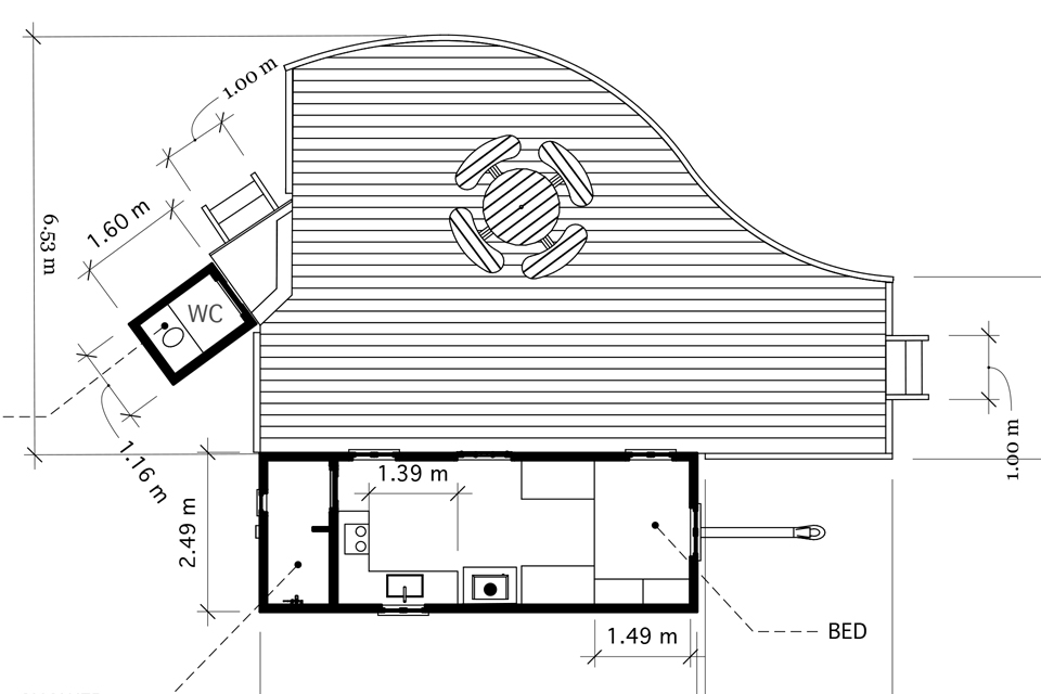 Old Burfa, Radnorshire, Crown and Canopy, Plan View 1