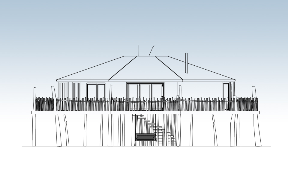 The Octagon Treehouse, Crown and Canopy, Plan View 1