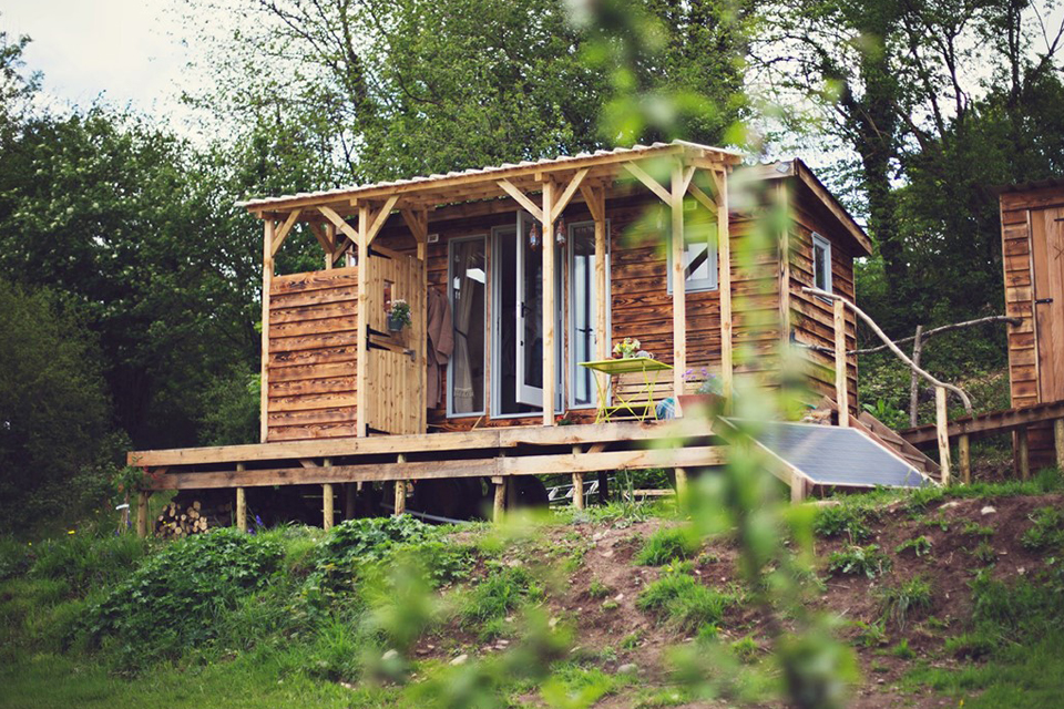 Burnt Wood Cabin, Powys, Crown and Canopy, Exterior View 2