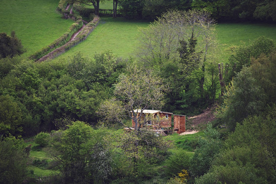 Burnt Wood Cabin, Powys, Crown and Canopy, Exterior View 1