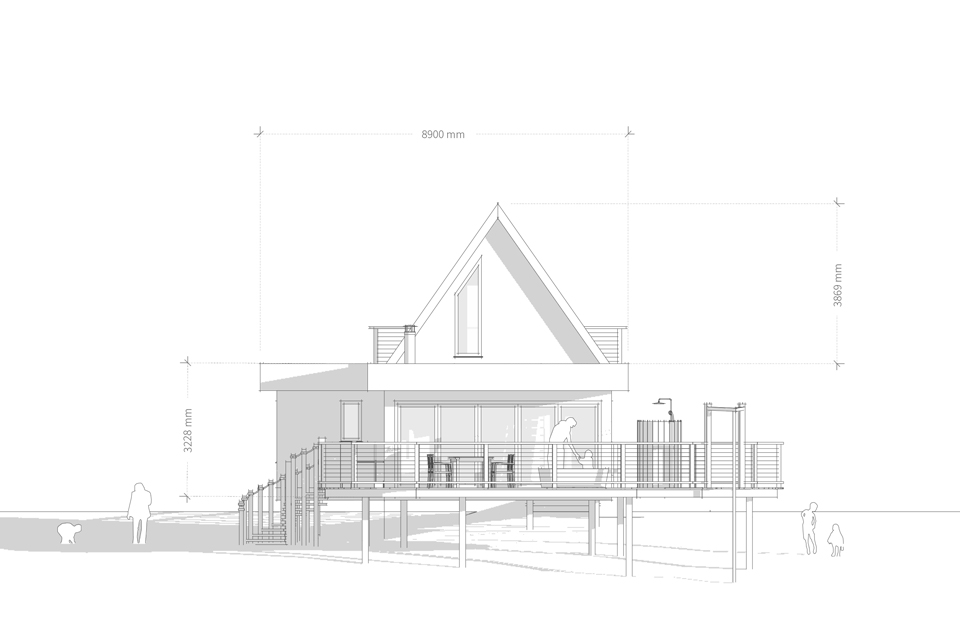Brinsop Court Treehouses, Front Elevation, Crown and Canopy