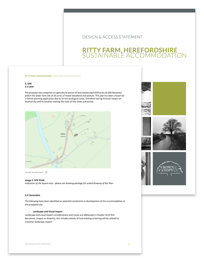 Glamping Site Design and Access Statement Documents