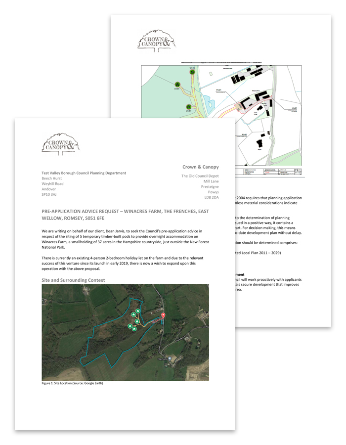 Glamping Site Pre-planning Application Documents
